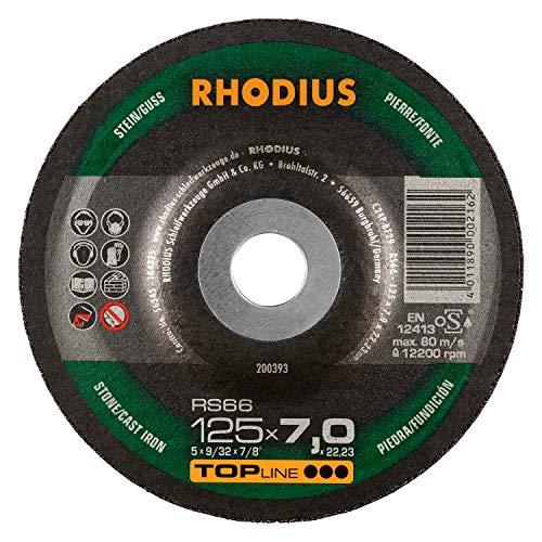 RHODIUS Stein Schruppscheiben RS66 Made in Germany Ø 125 mm für Winkelschleifer 25 Stück