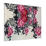 JIANSHAN Pintura de flores al óleo para decoración de pared, dormitorio, sala de estar, oficina, 16 x 20 pulgadas (sin marco)