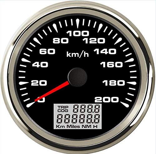 No-branded Odometer Spur 85mm Auto GPS-Geschwindigkeit Entfernungsmesser Trip Meter COG 0-200km / h Wasserdicht GPS Tachoanzeigen mit 8 Arten Farbe der Beleuchtung ZHQHYQHHX