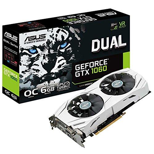 Asus Dual-GTX1060-O6G Gaming Nvidia GeForce Grafikkarte (PCIe 3.0, 6GB GDDR5 Speicher, HDMI, DVI, Displayport)