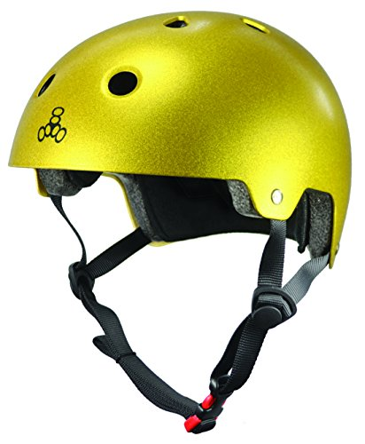 Triple 8 Brainsaver - Helm - metallic-gold - S/M