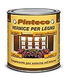 Veleca PINTECO LUCIDA Trasparente - ml. 750 - VERNICE ALL'ACQUA PER LEGNO DA ESTERNO