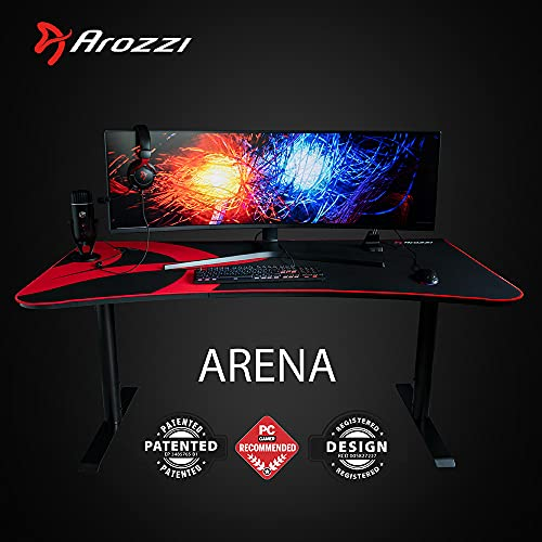 Arozzi Arena Gaming Desk - Black