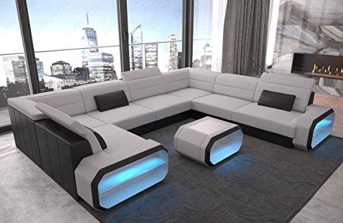 Sofa Dreams hoekbank Verona U met LED-verlichting