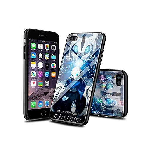 XINlOFNhE kompatibel för iPhone SE 2020 fodral glas mönster baksida fodral med silikon stötfångare fodral Bumper case for iPhone SE 2020B#010