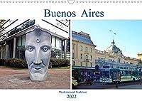Buenos Aires - Moderne und Tradition (Wandkalender 2022 DIN A3 quer): Argentiniens Hauptstadt am Rio de la Plata (Monatskalender, 14 Seiten )