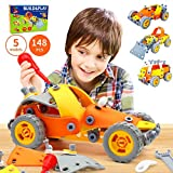 5-in-1 Building Toys for Kids - 148 Pcs Educational STEM Learning Toy and Play Builder Engineering Gift Set...