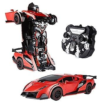 red transformer car