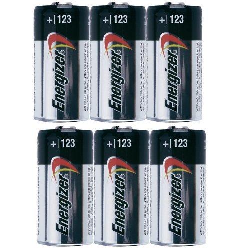 6-Pack Energizer Photo 123 Lithium Battery Pack 3V CR123A Ultimate 3.0v DL123A Bulk by Energizer