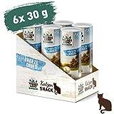 Wildes Land | Freeze Dried Snack für Katzen | Huhn | 6 x 30 g | artgerecht | 100% Huhn | schonende Gefriertrocknung | getreidefrei