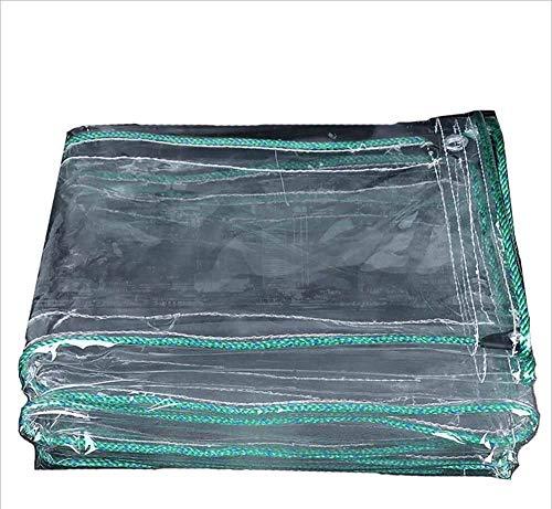 SZ JIAOJIAO Bâche Transparente Résistante Imperméable De Bâche De Couverture De Revêtement De Sol en Plastique avec Perforation 500G/M2,1X5m