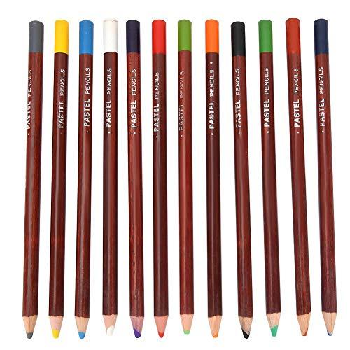 12色の鉛筆、ブラシ風景色鉛筆カーボンカラークラシックスケッチ特別なパステル鉛筆