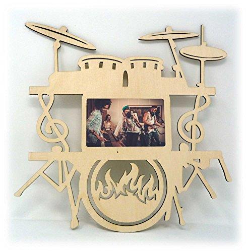 Musik Musiker Schlagzeug Drums Bilder-Rahmen Tür-Schild für das Schlafzimmer Wohnzimmer Studio - Auch zum selbst bemalen geeignet