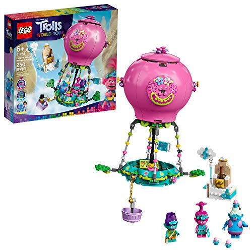 LEGO Trolls World Tour Poppy's Hot Air Balloon Adventure 41252 Building Kit, An Ideal Holiday Gift for Creative Play, New 2020 (250 Pieces)