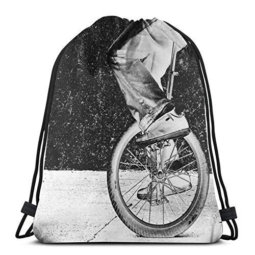Einrad 2 Drstring Rucksack Gym Sack Pack Solid Cinch Pack Sinch Sack Sport String Bag
