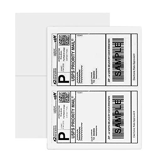 Amazon Brand - Eono Adressaufkleber Universal Aufkleber Versandetiketten DIN A4 Universal Etiketten Selbstklebend Adressaufkleber (210 x 148 mm, 100 Blatt, 200 Klebeetiketten) Weiß Bedruckbar