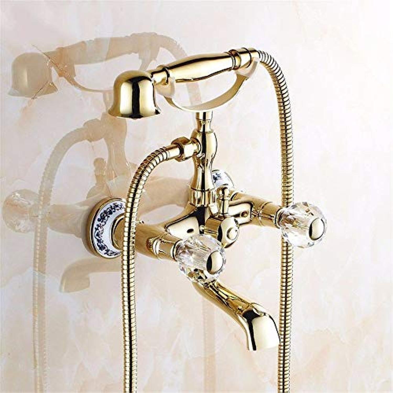 Gold alle Bronze antike Badewanne Armaturen, kontinentales Armaturen Dusche, unten Wasser, Spinning, nicht verblassen, F