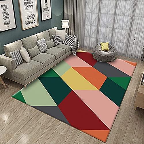 DERUKK-TY Alfombra de estilo moderno, diseño geométrico a...