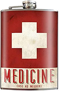 Medicine Flask - 8oz Stainless Steel Flask - come in a GIFT BOX - by Trixie & Milo