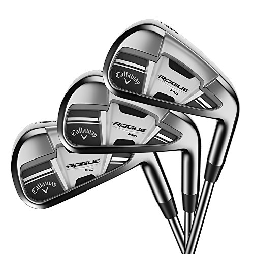 Callaway Golf 2018 Men's Rogue Pro Irons Set (Set of 7 Total Clubs: 4-PW, Left Hand, Steel, Stiff...