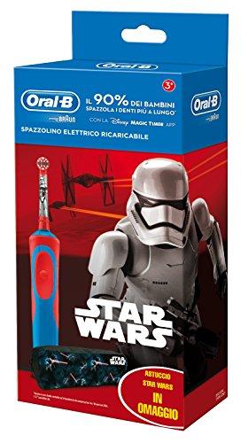Oral-B 81633851-Cepillo dental oscilante, eléctrico con batería integrado, rojo/azul