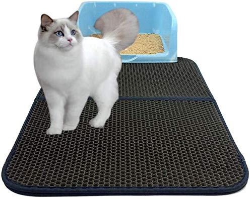 FXxswey Cat Litter Pad, Doble Capa Impermeable Alfombrilla Gato con, para Proteger el Suelo y la Alfombra (45 * 60cm)