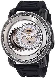 Ritmo Mundo Men's D202/9 SS BLK Diamond Persepolis Dual-Time Orbital Case Automatic Watch Sale and Now and review