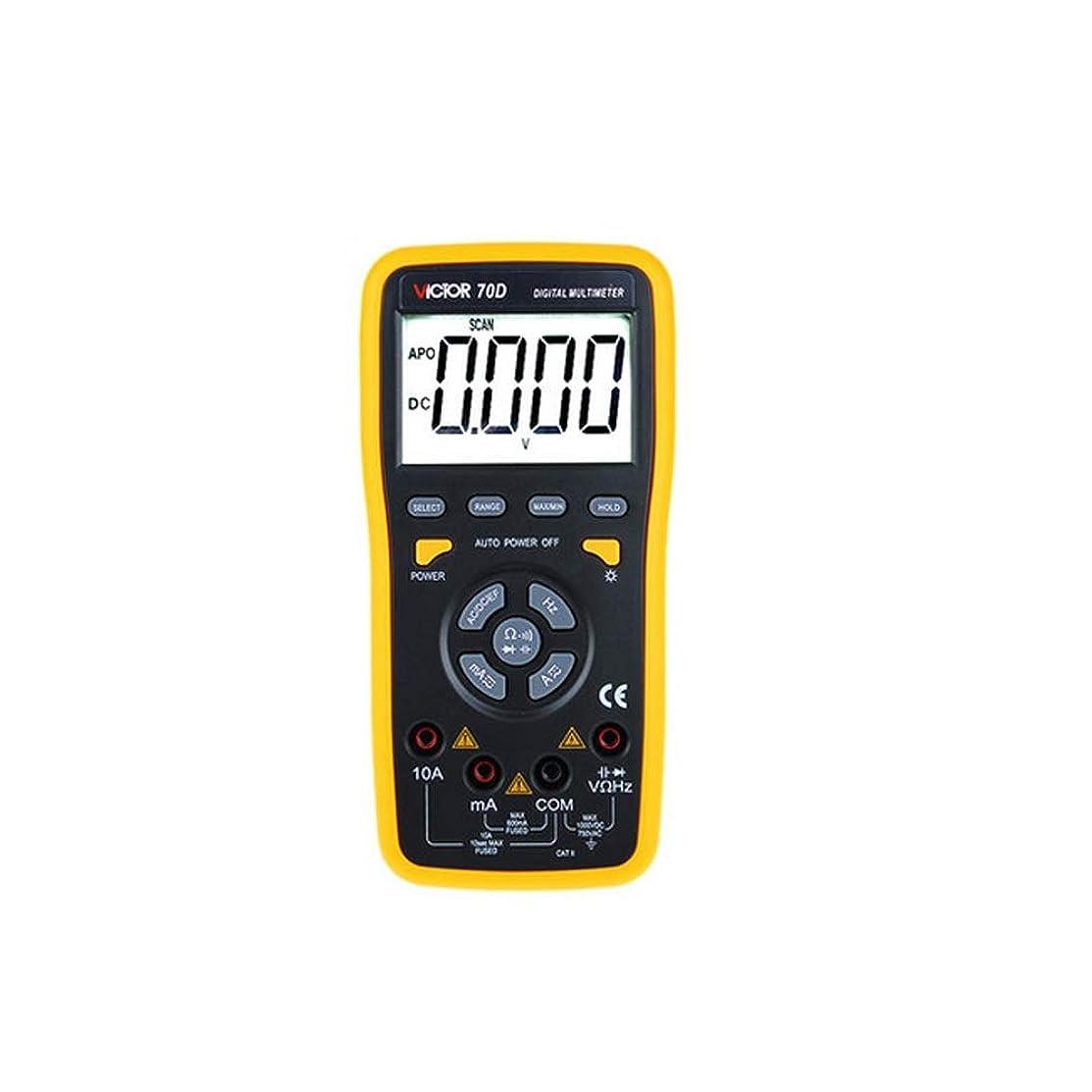 機知に富んだ科学者苦しめるQIFUYINZHUANG-R マルチメーター、デジタルテスター-ポータブルマルチメーター、1000V-計装機器産業(黒と黄色) 家庭用測定ツール