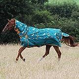 <span class='highlight'><span class='highlight'>Gallop</span></span> Trojan 200g Horse Turnout Rug Combo Full Neck Mediumweight Dog Print (6'9