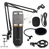 Set de micrófono de condensador BM-800, mesa profesional, micrófono, audio, audio, audio, streaming de radio, kit para grabación de podcasts, PC, juegos