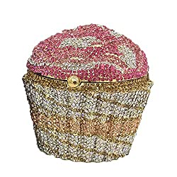 #2 Cupcake Crystal Minaudiere Clutch Purse