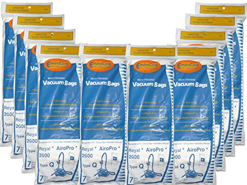 70 Royal Type Q Allergy Vacuum Bags + Filter, AirPro Ry 2000, Aire,...