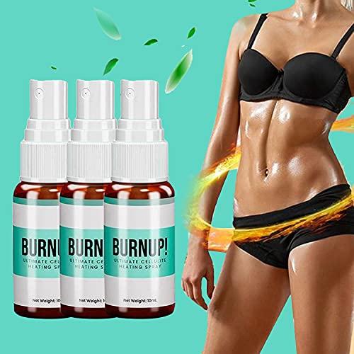 2/3PCS BurnUp Ultimate Cellulite Heating Spray, Spray Amincissant à Base de Plantes 10ml, Spray Amincissant pour Brûleur de Graisse Rapide de Perte de Poids (3pcs)