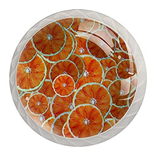 Naranjas, 4 Piezas de Morden Estilo ABS Gabinete de Cocina Perillas Redondo Cómoda Cajón Manijas Cajón Perillas