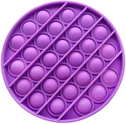 Push pop pop Bubble Sensory Fidget Toy,Autism Special Needs Stress Reliever Silicone Stress Reliever Toy,Squeeze Sensory Toy (Purple)