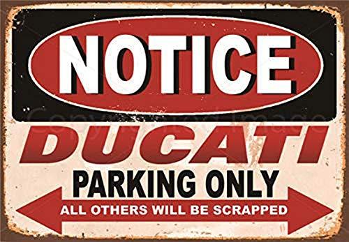 CDecor Ducati Blechschilder, Metall Poster, Retro Warnschild Schilder Blech Blechschild Malerei Wanddekoration Bar Geschäft Cafe Garage