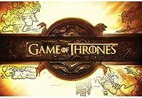 キャラクターポスター、映画ポスター、GAME OF THRONES ゲームオブスローンズ Logo ポスター A4サイズ(30x21cm)
