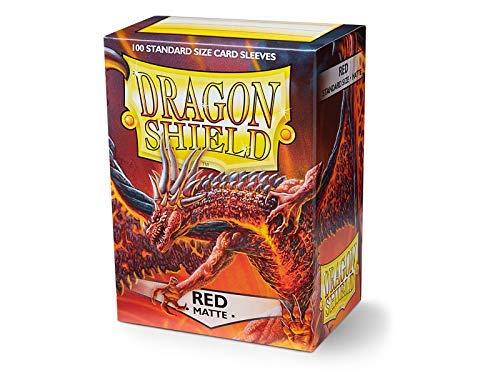 Arcane Tinmen- Dragon Shield - Fundas de tamaño estándar Mate (100 Unidades), Color Rojo (AT-11007)