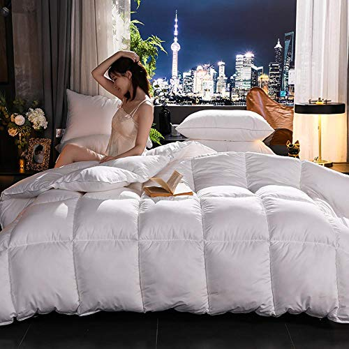 Miwaimao Winter 95% White Goose Down Duvet To Keep Warm Thick Quilt Gifts Customers Are The Core Hotel,White,200x230cm