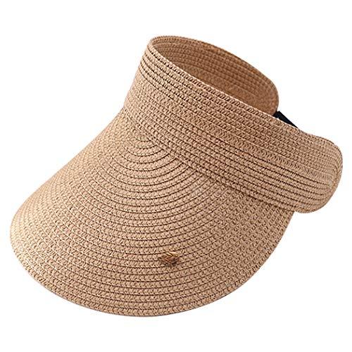 Fascigirl Sombrero De Copa Vacío Suave Transpirable Hueco Ligero Ligero Simple De Moda Sombrero De ala Ancha para Mujer Golf ala Ancha