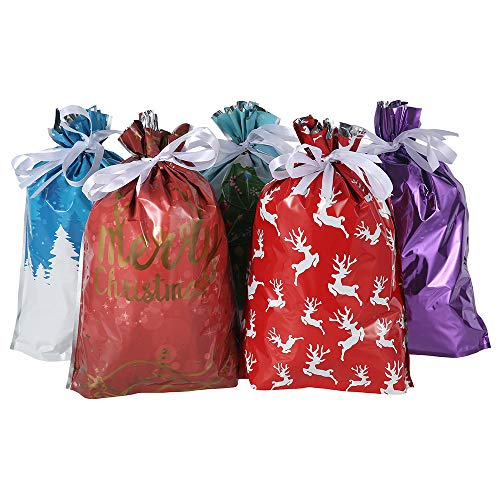 15 bolsas de regalo de Navidad con cordón, bolsas de regalo