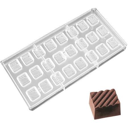 O'Creme Molde de policarbonato transparente para chocolate (24 cavidades)