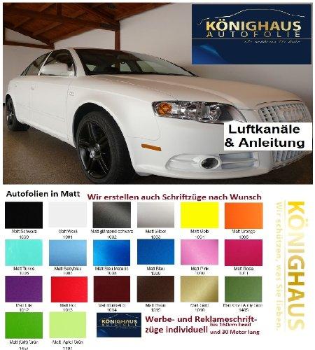 Könighaus (6,27€/m2) Türkis Matt Autofolie 300 x 152 cm blasenfrei mit Anleitung