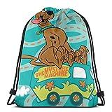 XLFD Scoobydoo Mystery Bag Mochila con cordón Bolsas de Cuerda Cinch Sacks Daypack para Viajar...