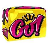 Bolsa de maquillaje portátil con cremallera bolsa de aseo de viaje para las mujeres práctico almacenamiento cosmético bolsa ir amarillo