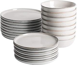 ProCook Oslo - Service de Table en Grès - 24 Pièces/Pour 8 Personnes - Petite Assiette, Grande Assiette & Assiette Creuse ...