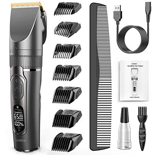 Maquina cortar pelo profesional, DynaBliss HG4000 maquina cortar pelo, kit para corte de cabello con carga USB, uso con cable o sin cable, ajuste de la longitud de corte
