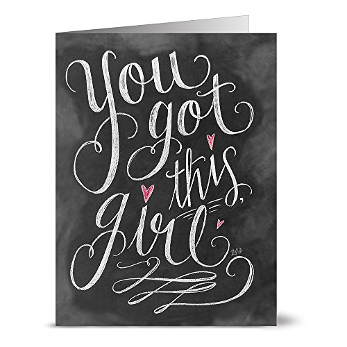 All Occasion Greeting Cards – 36 Pack – You Got this Girl – Unique Design – KRAFT ENVELOPES INCLUDED – Blank Greeting Card – Glossy Cover Blank Inside – By Note Card Café…
