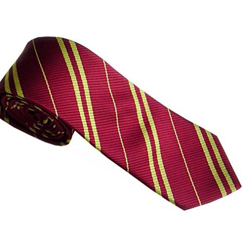 Zarupeng Herren Schmale Streifen Krawatten Seide Business Anzug Jacquard Gewebte Krawatten (One Size, Rot)