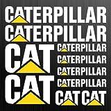 Caterpillar Cat XL Autocollant Sticker Bagger Pelleteuse 10 Pièces de Hochleistungsfolie Voiture Tuning Supersticki pour Tous Lisses Surface UV et Lavage Mise au Point Qualité Professionnelle